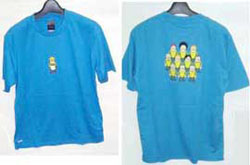 サッカー デザイン Tシャツ ブルー