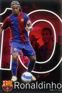FCバルセロナ 公式ポスター ロナウジーニョ